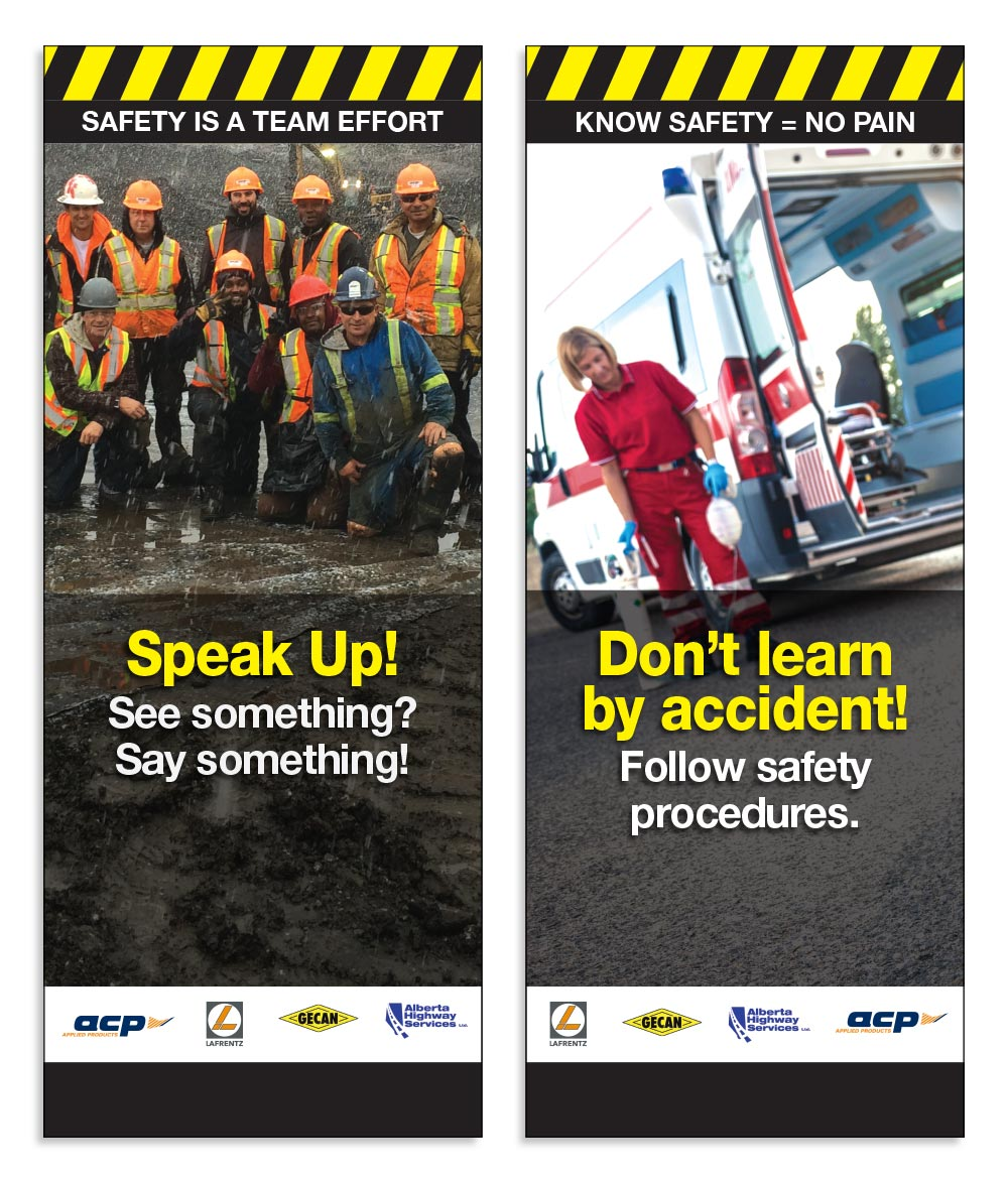 Canadian Road Builders Safety Banners